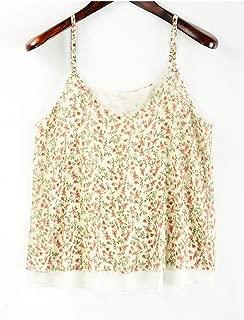 Chiffon Blouses New Summer Sleeveless T-Shirt Floral Flower Loose Women Top Women Vest, Shirt