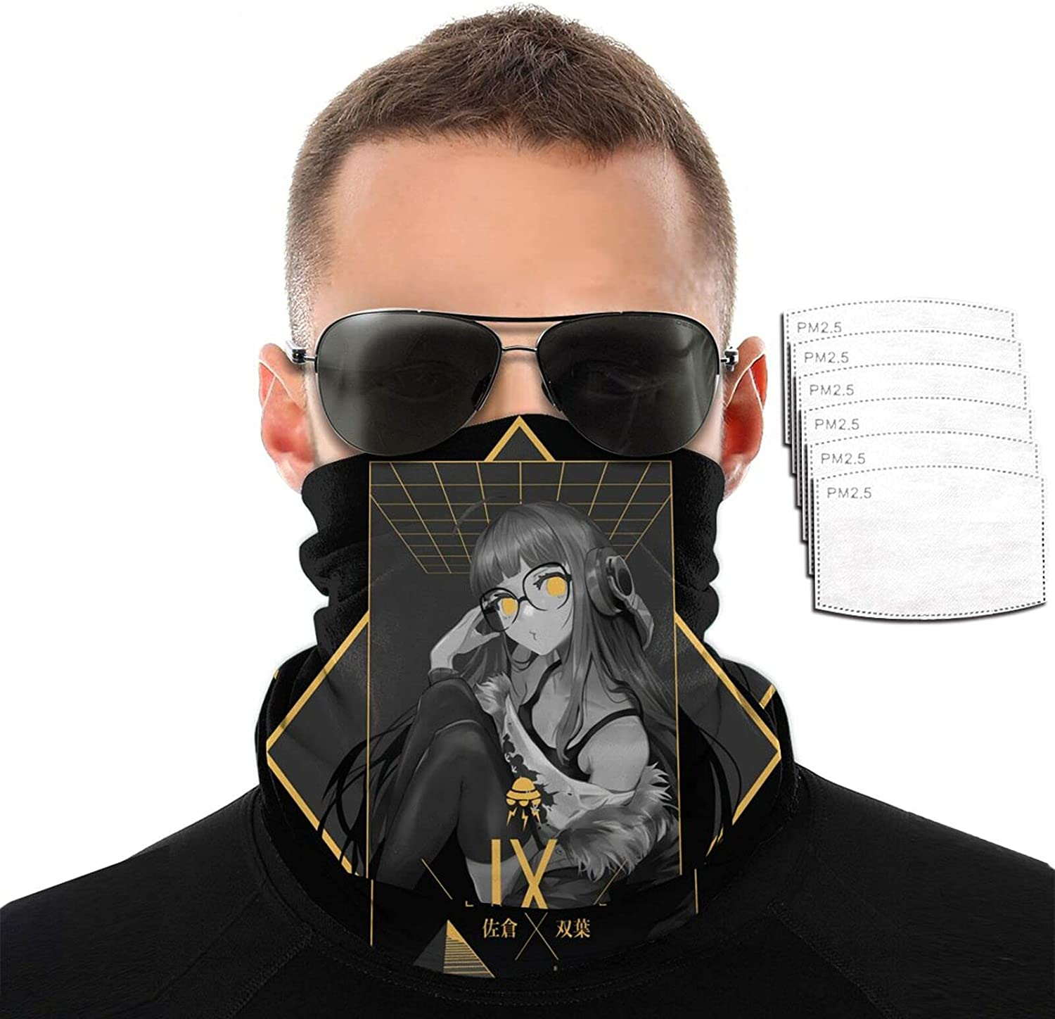 Anime Persona Overseas parallel import regular item 5 Variety Face Towel P Store Funny Scarf Sun 3D Printing