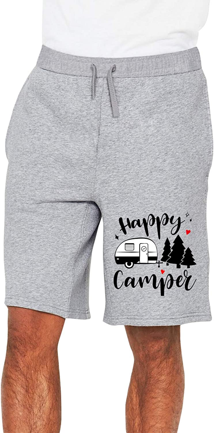 One shopping Happy Camper Man's Track Pants Gorgeous Shorts Pocke with 2 1 Jogging