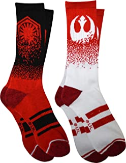 Star Wars Rebel Alliance Old Republic Crew Socks 2-Pack Sock Size 10-13