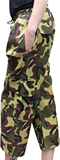 Rimi Hanger Kids 3/4 Length Camouflage Trousers Childrens Fancy Party Wear Knee Long Pants 5-13 Years