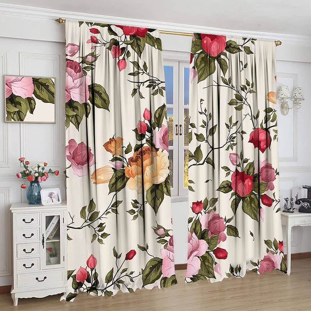 Regular discount GY trend rank Floral Curtains Vintage Flowers Curtain Living Room Deco Kids