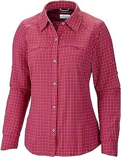 Columbia Sportswear Womens Silver Ridge Plaid Long Sleeve Shirt, Groovy Pink Plaid, Large