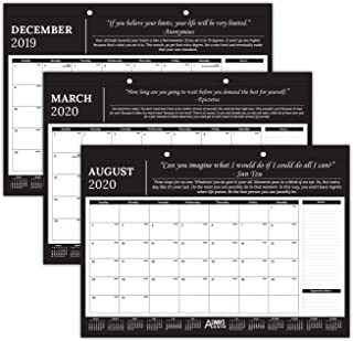 """Always Be Better Professional Monthly Motivational & Inspirational Desk/Wall Calendar 2019-2020 - 17"""" x 12"""" - Great for Business, Office, Academic, Daily Use"""