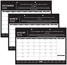 """Professional Monthly Motivational & Inspirational Desk/Wall Calendar 2019-2020 - 17"""" x 12"""" - Great for Business, Office, Academic, Daily Use Always Be Better"""