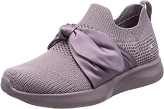 Skechers BOBS Women's Bobs Squad 2-Bow Overlay Slip on Engineered Knit Sneake. US