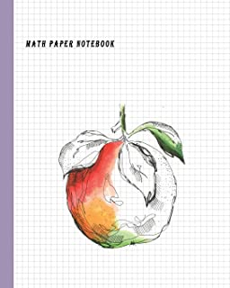 """Math Paper Notebook: Graph Paper 5x5 (five squares per inch) Squared Graphing Journal Paper (each square 0.20"""" x 0.20"""") Blank Quadrille, Coordinate, Grid and Math Paper Size 8"""" x 10"""" (100 Pages)"""