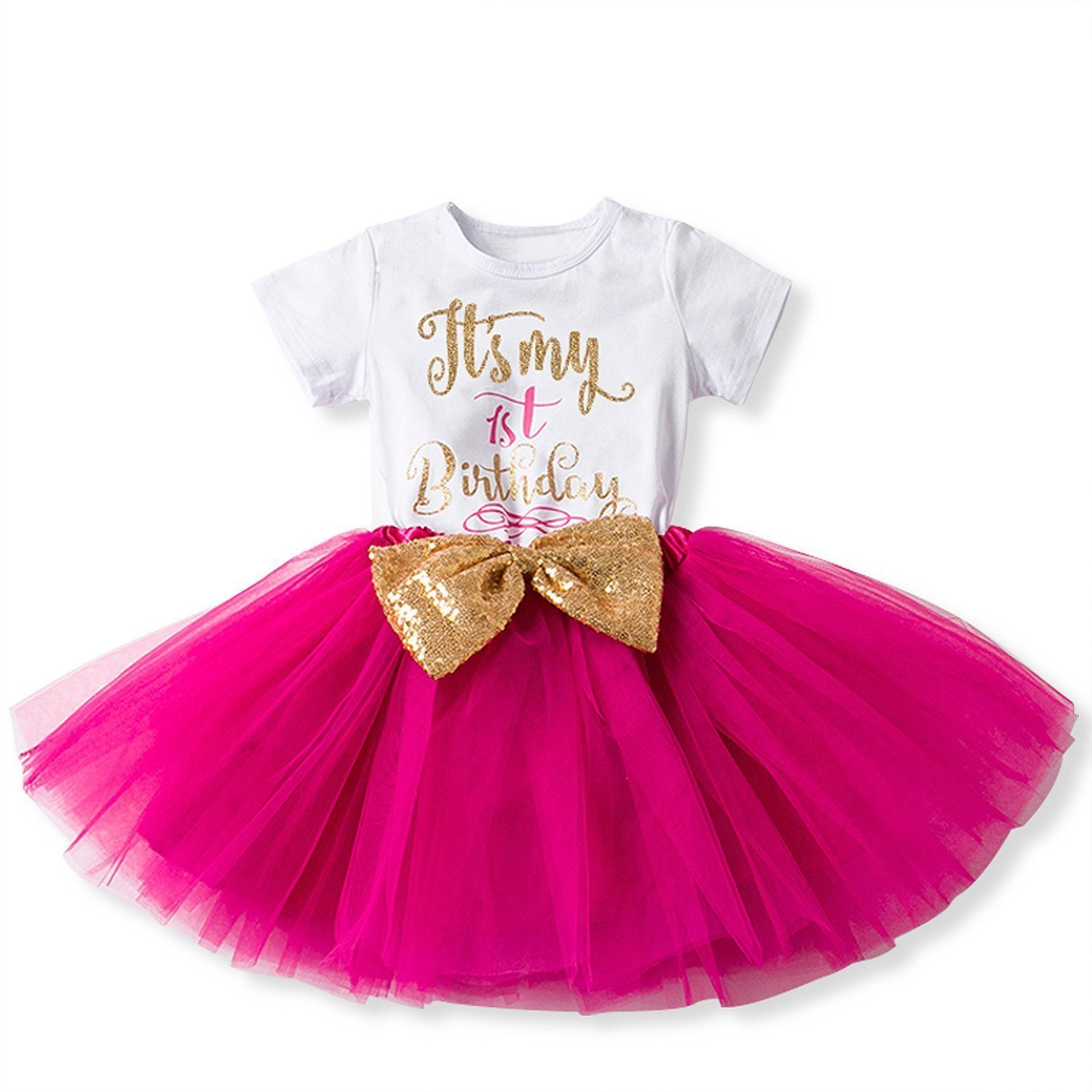 It/'s My 2nd Birthday Dress Baby Girl Cake Smash Party 4pcs Outfits Romper Skirt