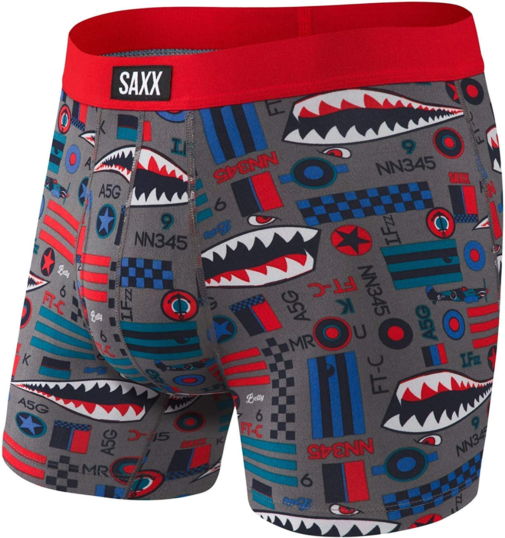 SAXX Men's Direct stock discount Cheap sale Boxer Briefs Elastane Polyester Blend