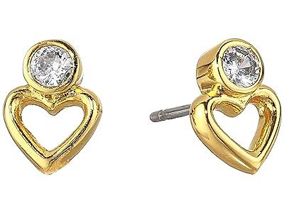 Kate Spade New York Shining Spade Studs Earrings (Clear/Gold) Earring