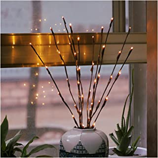 2 Pack Branch Lights - Led Branches Battery Powered Decorative Lights Tall Vase Filler Willow Twig Lighted Branch for Home...