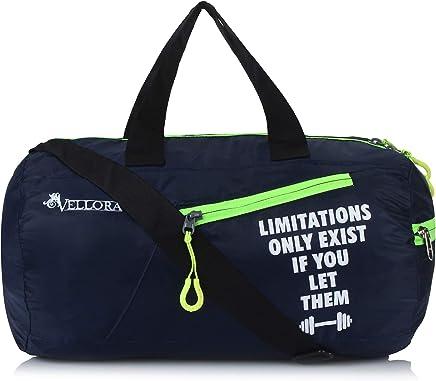 Vellora Polyester Flex Gym Sports Duffle Bag (Blue)