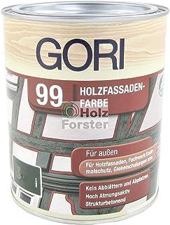 GORI 99 Holz- und Fassadenfarbe Sonderfarbton 893 Nachtschwarz, 0,75 Liter