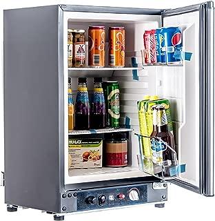 SMETA 12V 110V Gas Propane Refrigerator RV Truck Portable fridge Cooler (2.1 Cu.ft)
