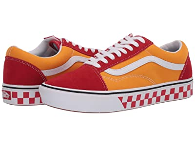 Vans Comfycush Old Skool ((Tape Mix) Red/Cadmium) Athletic Shoes