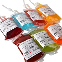 Amazlab Halloween Party Cups, Live Blood of Theme Parties- IV Blood Bag Drink Containers 11.5 FL Oz, Vampire/ Hospital/Halloween Theme Party Favors, Nurse Graduation Party Props (10Packs)