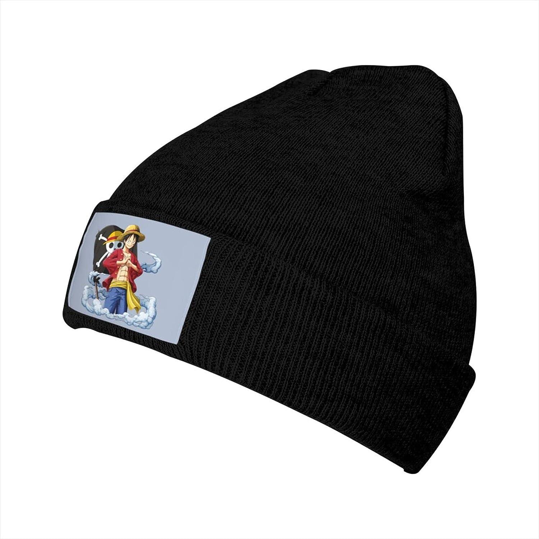 Almirah M Shirt Anime One Piece Luffy Hat Unisex Beanie Hat Warm Knitted Hat Skull Cap Black