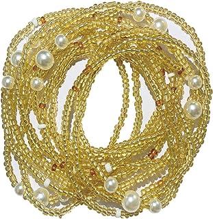 lfhyyazhj بيكيني مثير بسيط سلسلة شاطئ، موضة الصيف سلسلة الخرز الأرز، مجوهرات الخصر، سلسلة الجسم، الخرز البطن الملونة