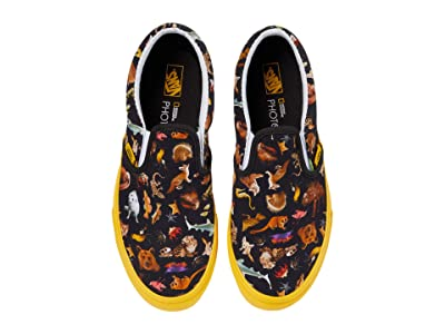 Vans Kids National Geographic Classic Slip-On (Big Kid) ((National Geographic) Photo Ark) Kids Shoes