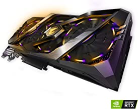 Gigabyte AORUS GeForce RTX 2080 8G Graphics Card, 3X Stacked Windforce Fans, 8GB 256-Bit GDDR6, GV-N2080AORUS-8GC Video Card