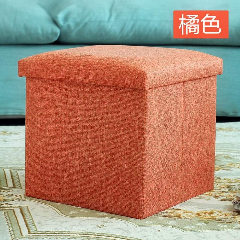 Storage Stool,Fabric Stool Single Stool Folding Adult Dormitory Bedroom shoes Footstool-A 25x25x25cm(10x10x10)