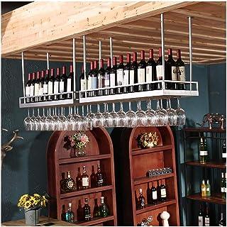 HZWLF Casier à vin, casier à vin Suspendu, Ornements, casier à Verre à vin créatif, Porte-Verres à Pied européen à l'enver...