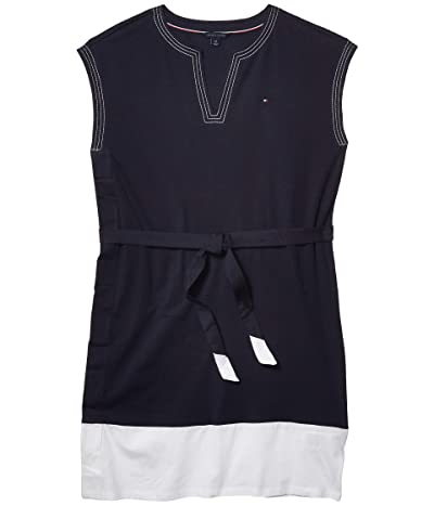 Tommy Hilfiger Adaptive Color-Block Sleeveless Dress (Masters Navy/Bright White) Women