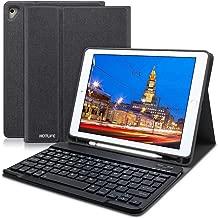 HOTLIFE iPad Keyboard Case 9.7 for iPad 2018 (6th Gen), iPad 2017 (5th Gen), iPad Air 2/Air, Ultra-Thin Slim Detachable Protective Cover iPad Keyboard Case with Pencil Holder (Black)