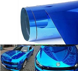 Padhome Blue Self-adhesive Gloss Chrome Mirror Vinyl Wrap Adhesive Film Air Release DIY Decal Sheet (120