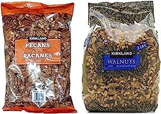 Kirkland Signature Pecan and Walnuts Bundle - Includes Kirkland Signature Pecan Halves (2.0 LB) and Walnuts (3 LB)