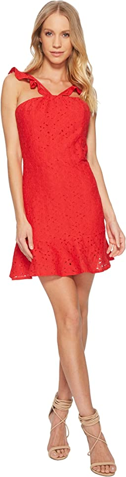 J.O.A. Lace Fit & Flare Dress