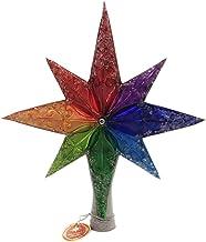 Christopher Radko Rainbow Stellar Finial Christmas Ornament