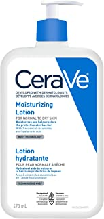 CeraVe Daily Moisturizing Lotion, Face, Body & Hands Lotion for Dry Skin with Hyaluronic Acid, Suitable for Sensitive Ski...