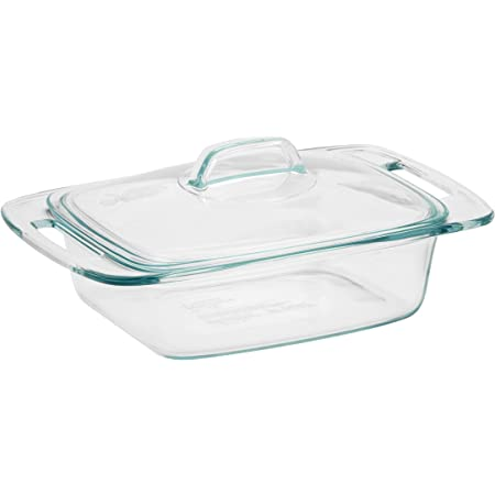 Pyrex Easy Grab Glass Casserole Dish with Glass Lid (2-Quart)