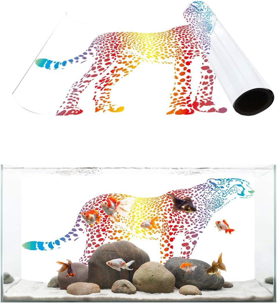 Surprise price TH XHome Aquarium Surprise price Décor Backgrounds Cheetah Colorful Hand Drawn