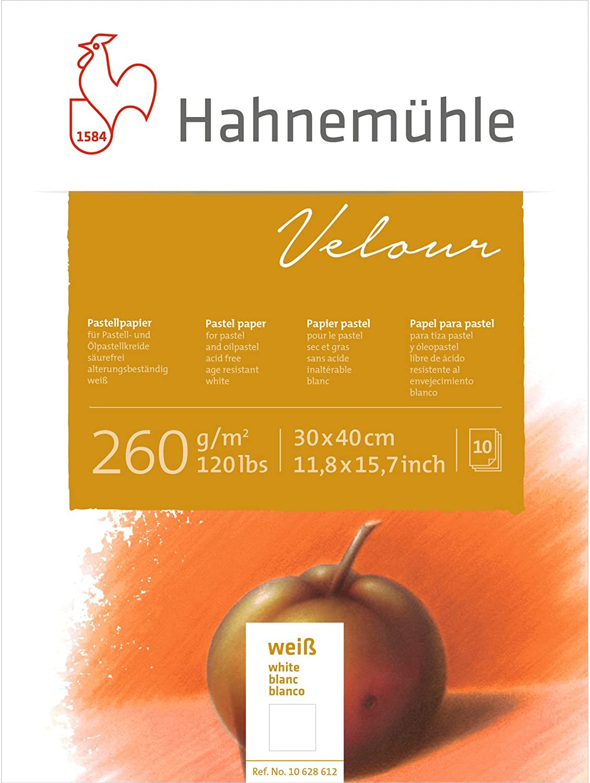 Pastellpapier Velour Block weiß 260g m², 30x40cm, 10Blatt B002OQBKRA  | Langfristiger Ruf