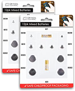 24PCE Batteries Assorted Sizes Car Keys Watches Calculators Remotes Gadgets