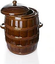 Deckel f/ür G/ärtopf Form 2-16 Liter /Ø 20,5 cm Original K/&K Ersatzteil braun-gl/änzend