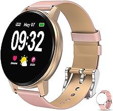 Smartwatch voor dames en heren, waterdicht, intelligent horloge, activiteitentracker, outdoor, fitnesstracker, met slaapmo...