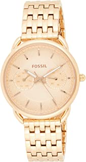 Fossil Tailor Multifunction Women's Rose Gold Dial Stainless Steel Watch - ES3713