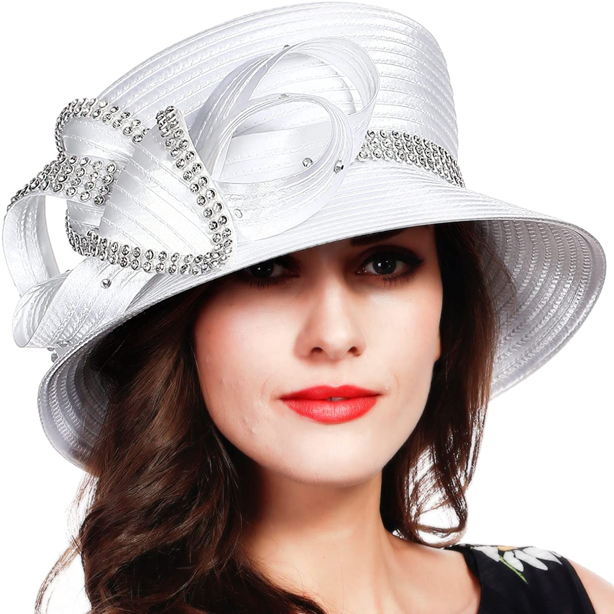 FORBUSITE Church Kentucky Derby Hats Women Dress Spring new work Cheap bargain for