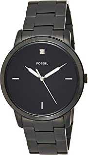 Fossil Mens Quartz Watch, Analog Display and Stainless Steel Strap FS5455