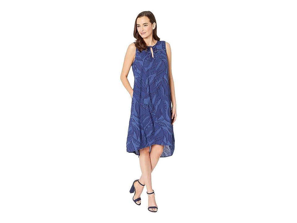 Fresh Produce Palm Leaves Ada Dress (Moonlight Blue) Women
