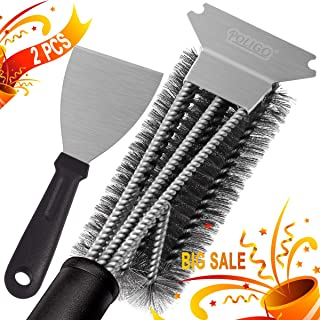 POLIGO Grill Brush and Scraper Set - Safe 18