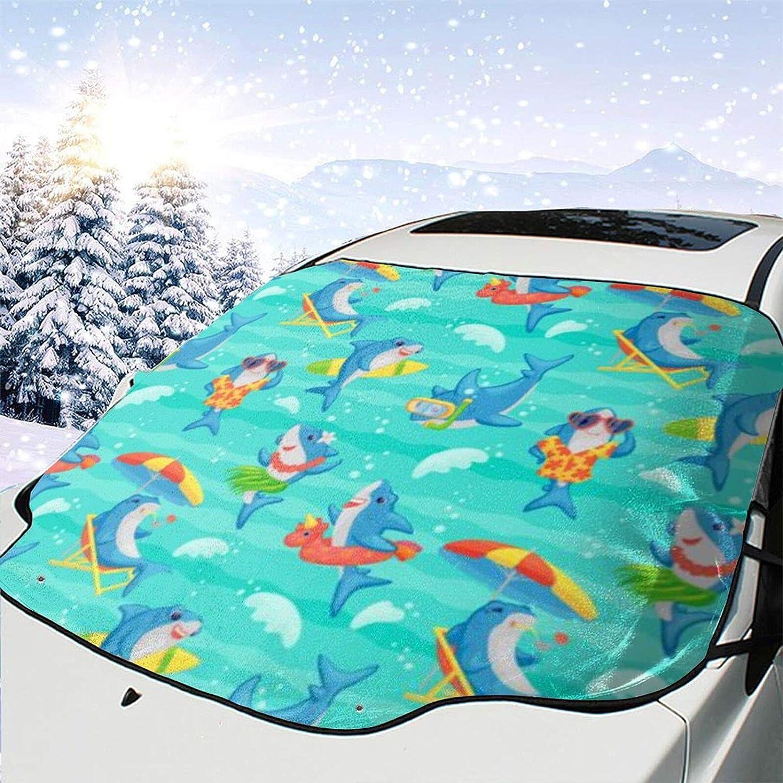 Car Front Window Shade Mail order Funny Cute Winter Beach Cartoon Shark Win Virginia Beach Mall