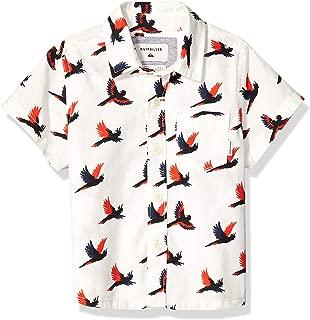QUIKSILVER Little Boys' Cockatoo Short Sleeve Woven Top, Gardenia_Cockatoo YB, 6