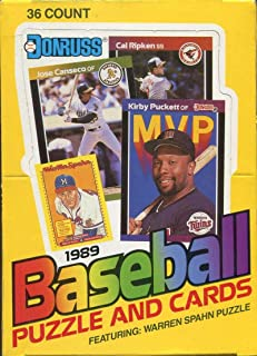 1989 Donruss Baseball Wax Box (36 Sealed Packs) Look for the Ken Griffey Jr. Rookie Card
