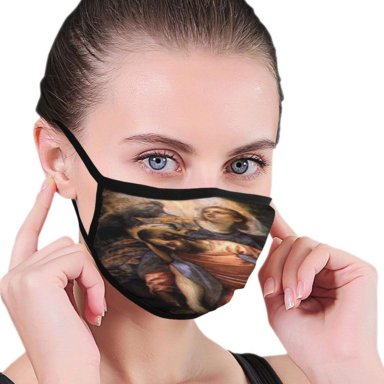 LANJYF 2 Packs Reusable Beagle Dog Facial Covering Mouth Wear Unisex Cotton