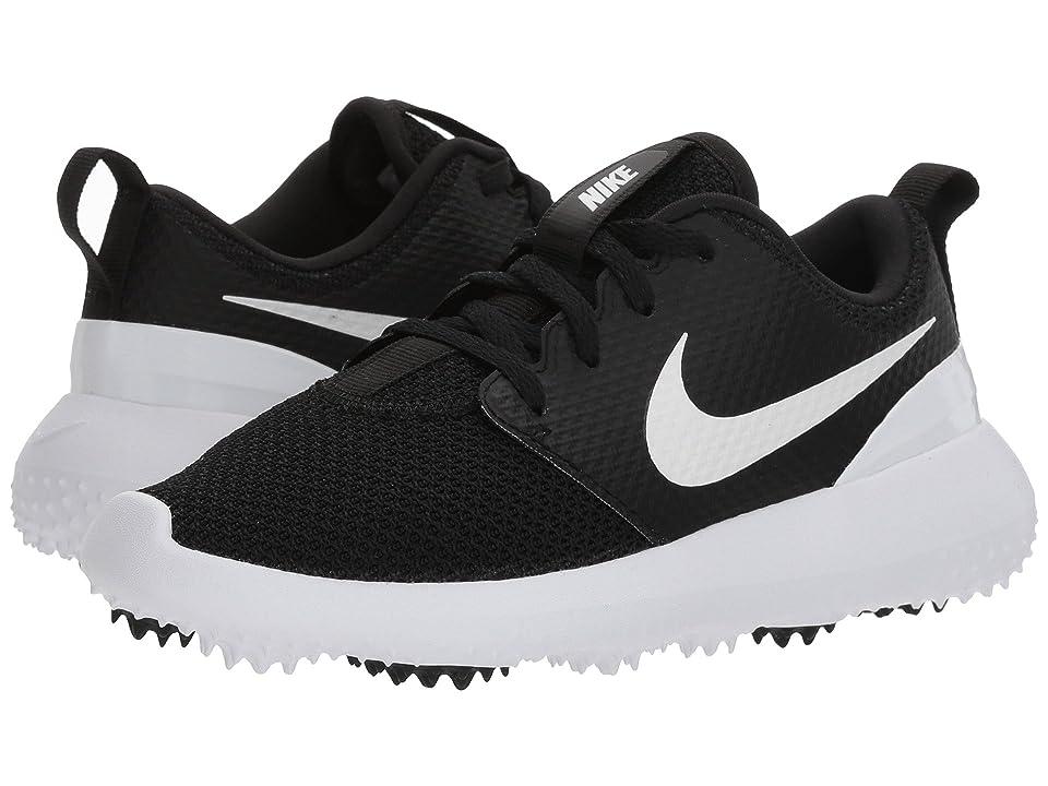 Nike Golf Roshe G (Little Kid/Big Kid) (Black/White) Men