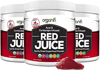 Organifi: Red Juice- Organic Superfood Supplement Powder - 30 Day Supply - USDA Certified Organic, Boosts Metabolism, and Reverses The Signs of Aging -3pk